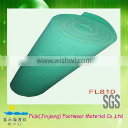 foam underlayment cushion material for insoles