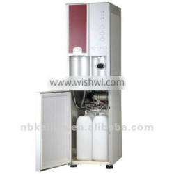 The Touch Type button & Bottles water cooler with ice-maker