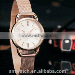 women watch stainless steel mesh band rose gold online shopping CE & RoHS