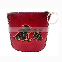 genuine leather coin purse pocket squeeze coin purse MCP-0014
