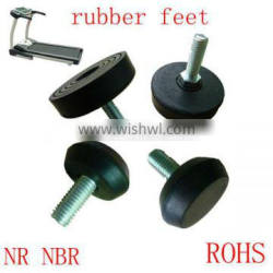 heat resistant anti-skidding /rubber feet/rubber pad for running machine Chair Tips