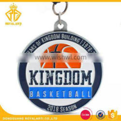 Cheap Price 2018 Season Kingdom Basketball Medal in Antique Finish