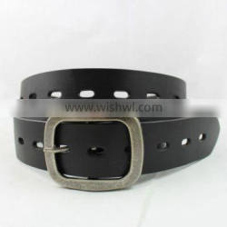 New Arrival Geniune Leather Belt With Hollow Out Designed Unisex Waist Belt