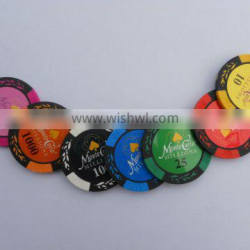 43MM Casino Poker Chips 15.2g,clay poker chip with your denomination,casino chip with your design