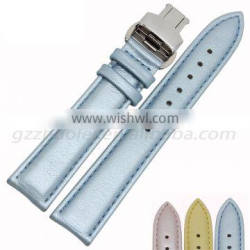 2015 hot fashion cowhide leather watch strap 16|18mm watch strap leather