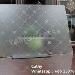acid etched frosted glass