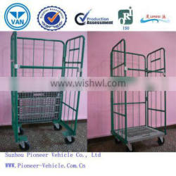 Best Selling Collapsible Logistics Trolley/Foldable Logistics Trolley/Wire Mesh Trolley Cage(ISO SGS TUV Approved )