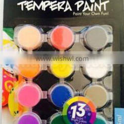 Metallic Tempera PAINT 12POTS 5ml