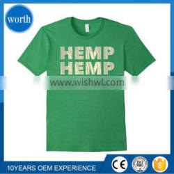T shirt hemp printing OEM customized