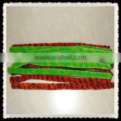 pipe cleaners 15mm---green and yellow,black and red.