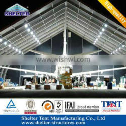 Aluminum Structure Curved aircraft hangar tent with maximum wind loading Maximum 120km/h