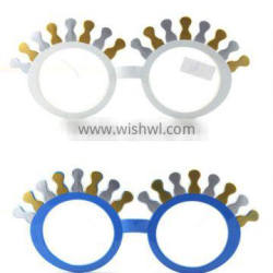 funny party glasses round with eyelash