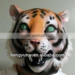 Eco-friendly vivid Rubber Latex Tiger Mask full head Deluxe Animal Party Mask -2013