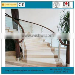 glass stainless handrail for glass stair