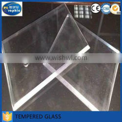 All sizes drill holes 8mm tempered glass with beveled edges
