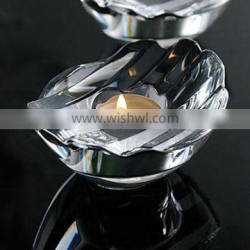 tealight crystal cut glass candle holder for table decor