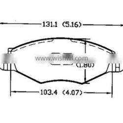 With many brake pad types D1143 4252.12 for Peugeot DongFeng Citroen fronts atv brake pads