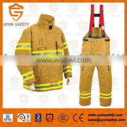 EN 469 Fireman rescue gear/ Firefighting suit/ Firefighter uniform with 4 layer structure Aramid material -Ayonsafety