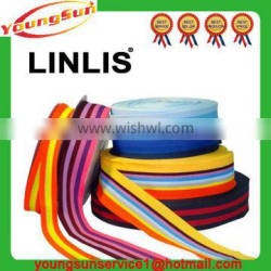 Wholesale custom colorful flat polyester twill tape elastic bands for shoes/clothes
