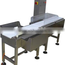 Automatic check weigher for food.Automatic check weigher in packing line