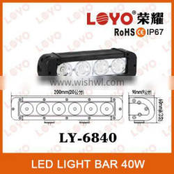 4 PCS 40W LED bar light long lifespan LED offroad light bar