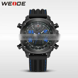 WEIDE fancy watches top brand Silicone watch strap relogios masculino 2016