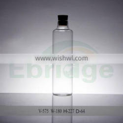Customize water round glass bottle