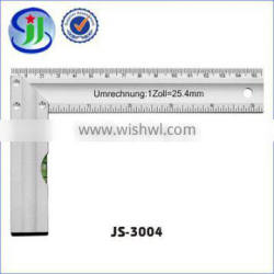 good after-sale service wide aluminium l-shaped ruler with level vial
