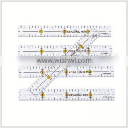 OEM Luxury clear acrylic ruler, creative grids quilting ruler ( 4'' * 1/2'' ) # KPR4005