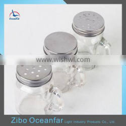 Factory Direct Sale Clear Mini Small Mason Jars With Handle