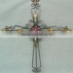 Wrought iron crafts Wall Hanging Decor Western Church Christian Plaque Wall Cross