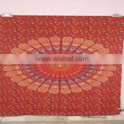 Mandala floral design outdoor indoor cotton tapestry india