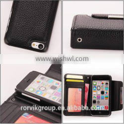 Wallet Style Leather Case with Card Slots for iphone 5C Case