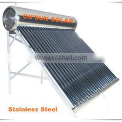 2015 The Best Unpressurized Stainless Steel Solar Water Heater