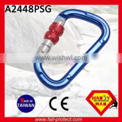 With Double CE Certificate 22KN Mountain Carabiner With Screw Lock