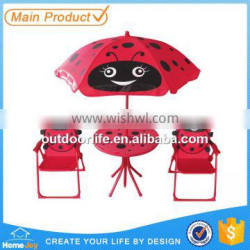 Pretty indoor or outdoor used kids patio 4pcs set, children metal table and chairs, kids furniture