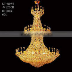 K9 antique gold crystal large mosque chandelier Quality Choice