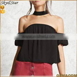 Fashion off shoulder mini short sexy tops