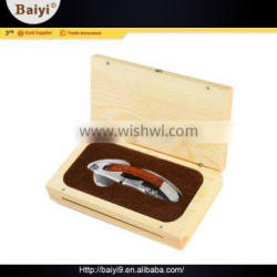 Durable Quick Pulling Cute Wine Bottle Accessories Set Wood Box
