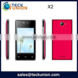 X2 3.5inch quad band mobile phone single camera support wifi cellphone