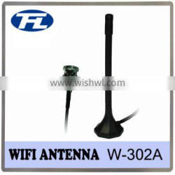 BNC male connector Black magnetic base 2-3dBi 2400-2500MHz WIFI Antenna