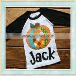 2017 wholesale halloween boy clothes pumpkin embroidery factory provide costumes