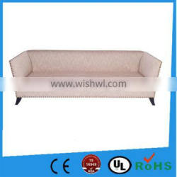 America simple style brass nail fabric/leather wooden sofa