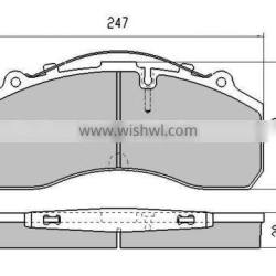 Best quality OEM Quality WVA 29087 Brake Pads for MERCEDES Truck Bus