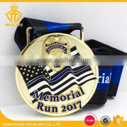 High Quality Memorial Run Officer Running Medal with Custom Design