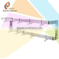High quality hotel restaurent stainless steel kitchen wall mounting hanging tower rack