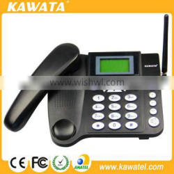 Featured Phonebook SMS Gsm sim card desk phone with Big LCD