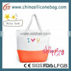 DIY color mix silicone beach handbag silicone shoulder bag