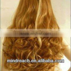 """Premium new style hot sale 24""""144# big body curl synthetic lace front wig in stock,accept escrow"""
