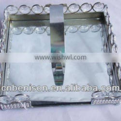 silver tissue box for wedding